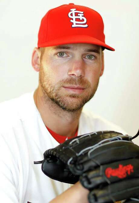 JUPITER, FL - FEBRUARY 29:  Chris Carpenter #29 of the St. Louis Cardinals poses during photo day at Roger Dean Stadium on February 29, 2012 in Jupiter, Florida.  (Photo by Mike Ehrmann/Getty Images) Photo: Mike Ehrmann / 2012 Getty Images