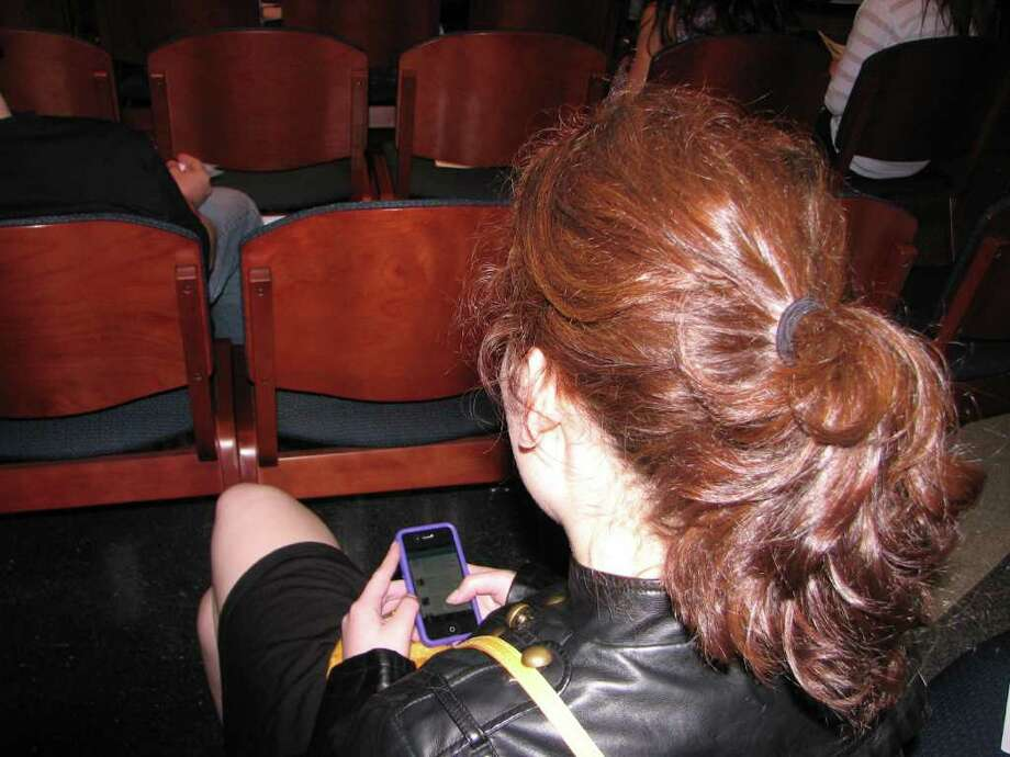 """Were you Seen at """"Tethered 24/7"""" talking about social media and technology at The College of Saint Rose in Albany on Wednesday, March 21, 2012? Photo: Dana Lenseth"""