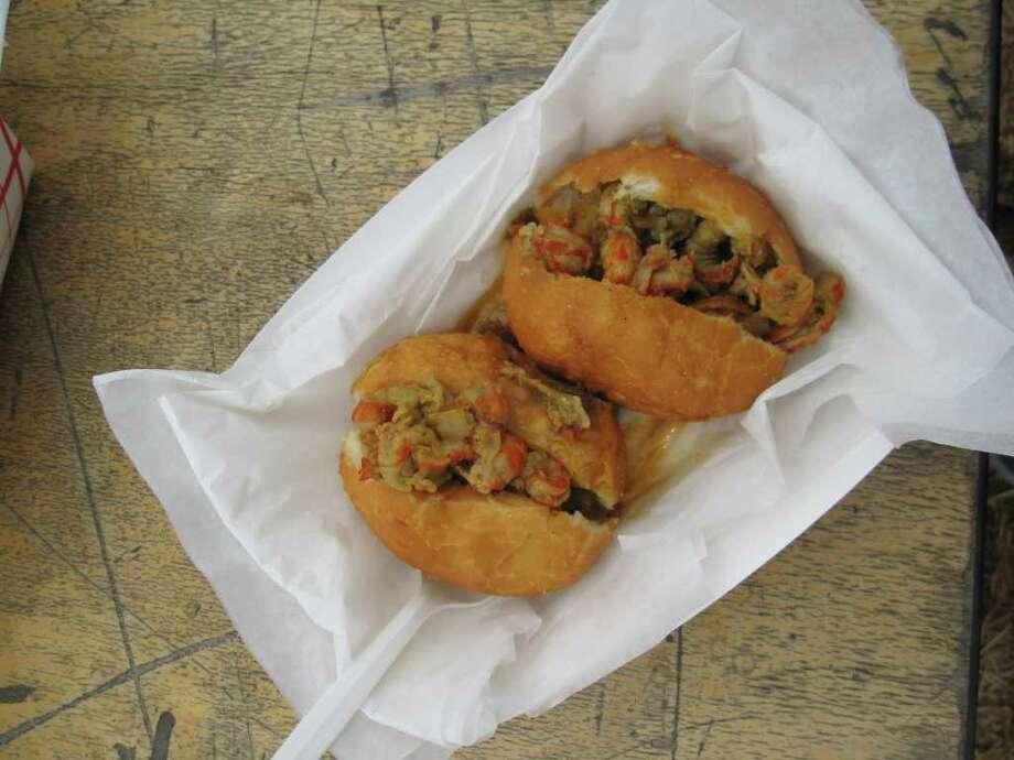 Crawfish Piistolettes from Lagniappe Today food truck. Photo: Jessica Elizarraras