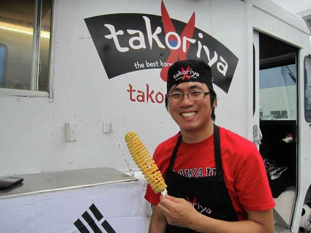 Jungkeun Song from Takoriya food truck Photo: Jessica Elizarraras