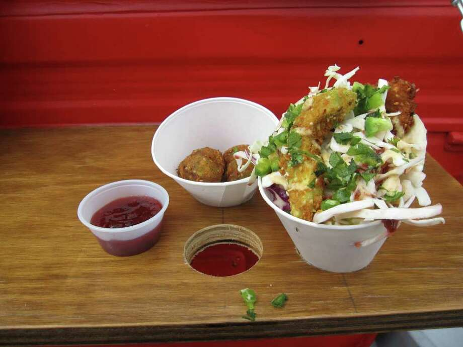 Guacabolas from the Winner Winner Chicken Dinner food truck. Photo: Jessica Elizarraras