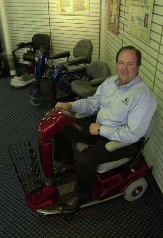 Doug Harrison, as seen on June 28, 2001, started The Scooter Store in New Braunfels in 1991.  The New Braunfels company used to take in $200 million a year from sales in 22 states.  Photo: Robert McLeroy, SAN ANTONIO EXPRESS-NEWS