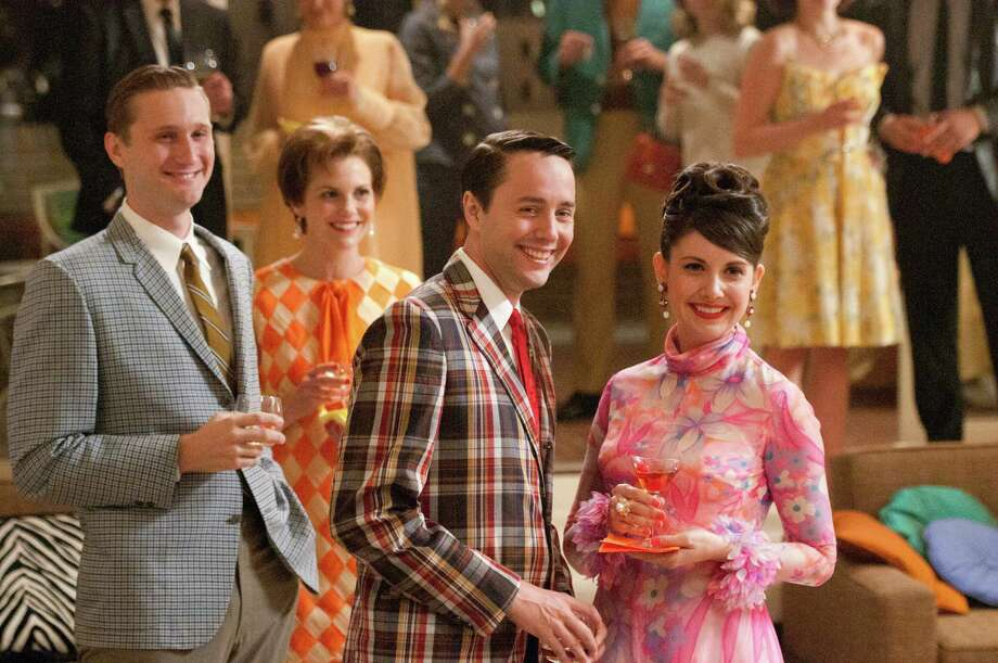 "A crucial party scene in the season premiere of ""Mad Men."" Photo: AMC"