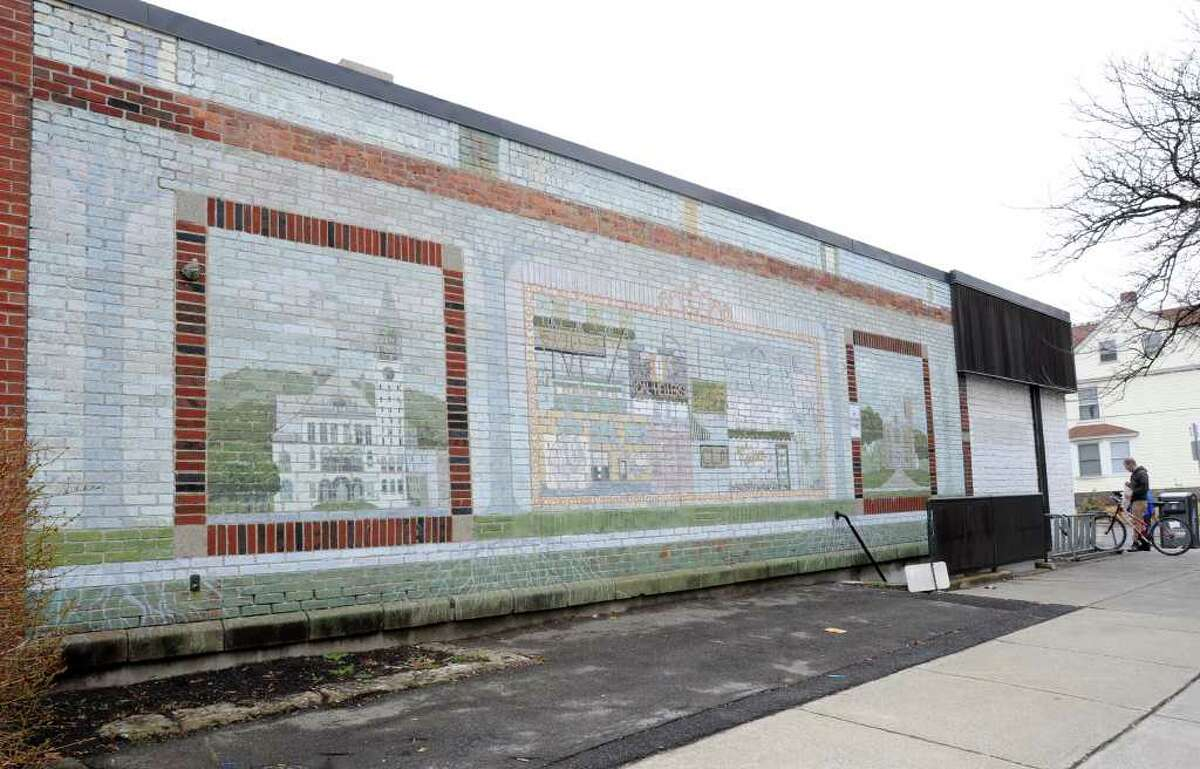 Mural on the side of CVS on the corner of Madison and Main Streets March 16 , 2012 in Albany, N.Y. There are efforts to restore the 35-year-old piece. (Lori Van Buren / Times Union)