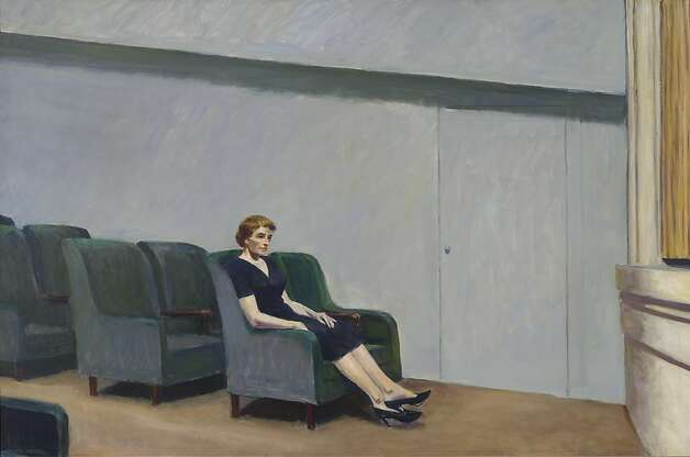 "Edward Hopper's ""Inter- mission,""  acquired from a private collector, portrays emotional and social isolation. Photo: Edward Hopper, SFMOMA"