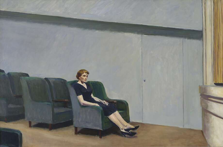 "The San Francisco Museum of Modern Art (SFMOMA) has acquired Edward Hopper""s Intermission (1963), among the artist""s largest and most ambitious paintings, and one of the last significant Hopper works remaining in private hands. Intermission was acquired from Fraenkel Gallery, San Francisco, in part through gifts from the Fisher and Schwab families, and will immediately go on view to the public at SFMOMA today. Photo: Edward Hopper, SFMOMA"