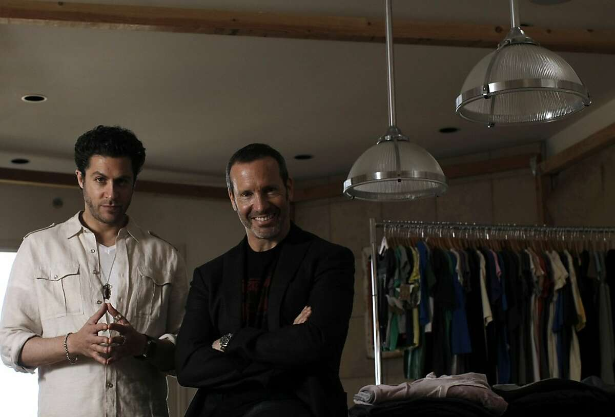 Golden Goods' president Jeff Scult (right) and designer Jeffrey Levine (left) at the company design studio in San Francisco, California on Tuesday, February 28, 2012, where Levine also lives.