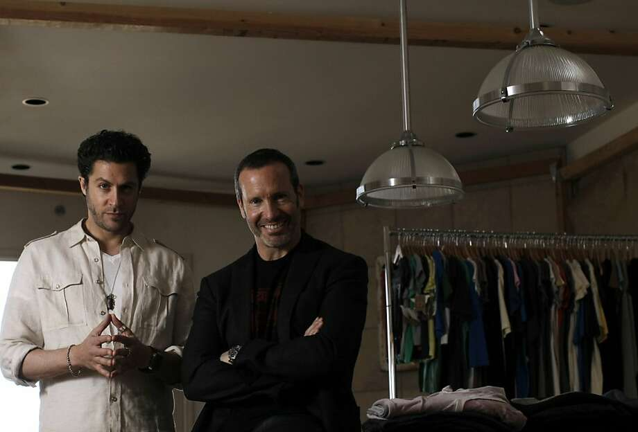 Golden Goods' president Jeff Scult (right) and designer Jeffrey Levine (left) at the company design studio in San Francisco, California on Tuesday, February 28, 2012, where Levine also lives. Photo: Siana Hristova, The Chronicle