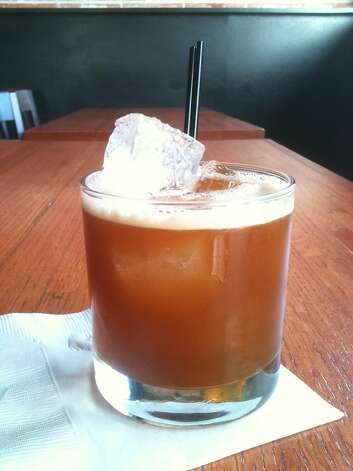 "Whitman's Truth, a cocktail from Anvil Bar & Refuge made for the premiere of the fifth season of ""Mad Men,"" 2012. Photo: Greg Morago"