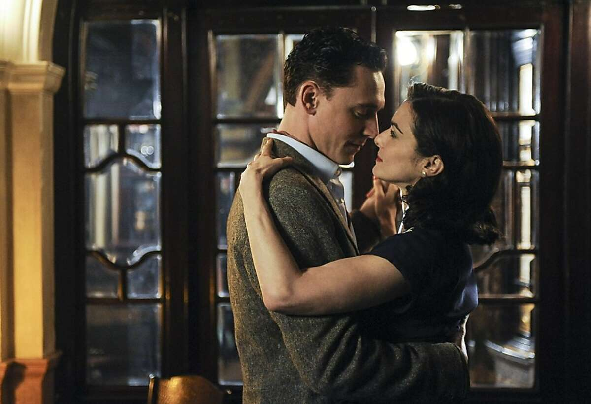 """Freddie Page (Tom Hiddleston) and Hester Collyer (Rachel Weisz) in """"The Deep Blue Sea"""" about a judge's wife's torrid affair."""