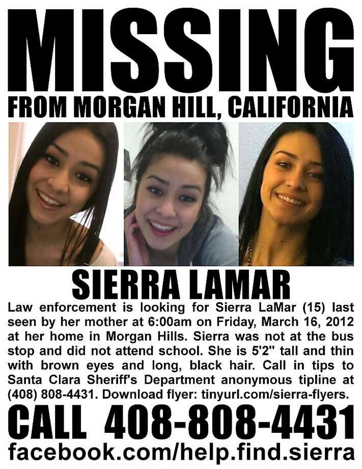 Sierra LaMar, 15, from Morgan Hill, Calif., is missing.  She was last seen by her mother Friday March, 16, 2012. Photo: Courtesy Seeking TheLost