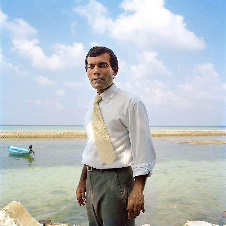 "Maldives president Mohamed Nasheed as seen in the documentary  ""The Island President."" Photo: Chiara Gola, Samuel Goldwyn Films"