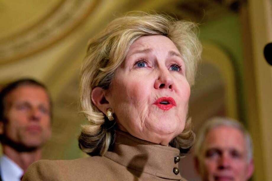 """We cannot afford to lose the Medicaid funding for low-income women to have health care services,"" Sen. Kay Bailey Hutchison, shown on Tuesday, said.
