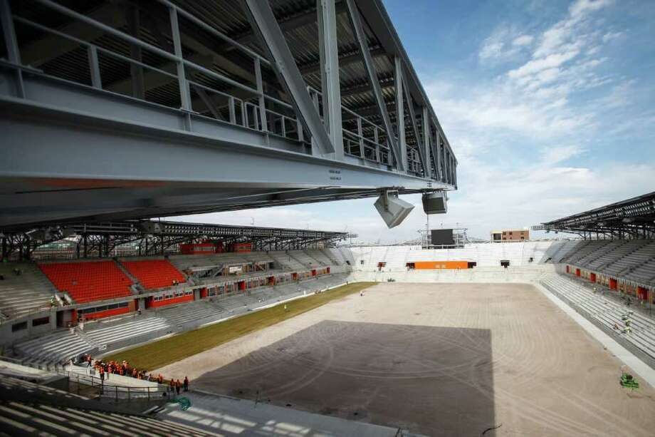 When BBVA Compass Stadium opens May 12 - the Dynamo host D.C. United - it'll be the 14th MLS soccer-specific stadium built or renovated since 1999. Photo: Michael Paulsen / © 2012 Houston Chronicle
