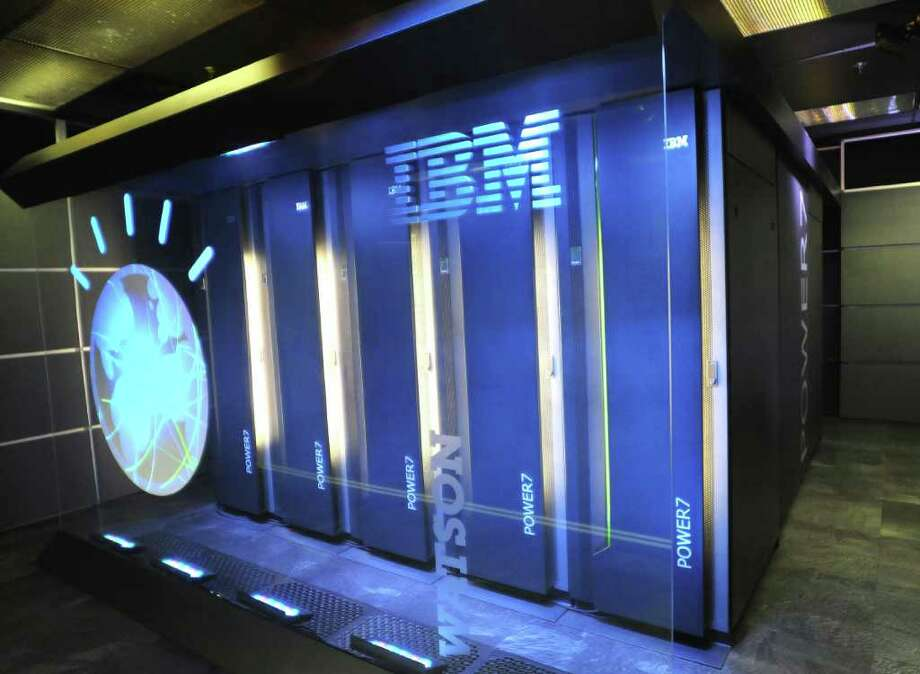 FILE - This Jan. 13, 2011 photo provided by IBM shows the computer system known as Watson at IBM's research center in Yorktown Heights, N.Y. The medical training of IBM's speedy Watson computer will continue with a residency at Memorial Sloan-Kettering to help doctors diagnose and treat cancer. (AP Photo/IBM, File)