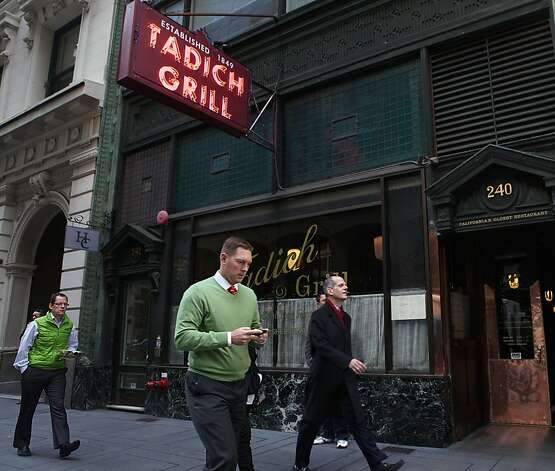 Tadich Grill in the Embarcadero in San Francisco, Calif., on Thursday, December 15, 2011. Photo: Liz Hafalia, The Chronicle