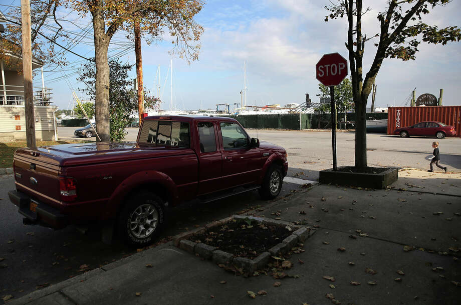 A truck sits parked near a marina on October 17, 2013 in the Staten Island borough of New York City. Hurricane Sandy made landfall on October 29, 2012 near Brigantine, New Jersey and affected 24 states from Florida to Maine and cost the country an estimated $65 billion. Photo: John Moore, Getty Images / 2013 Getty Images
