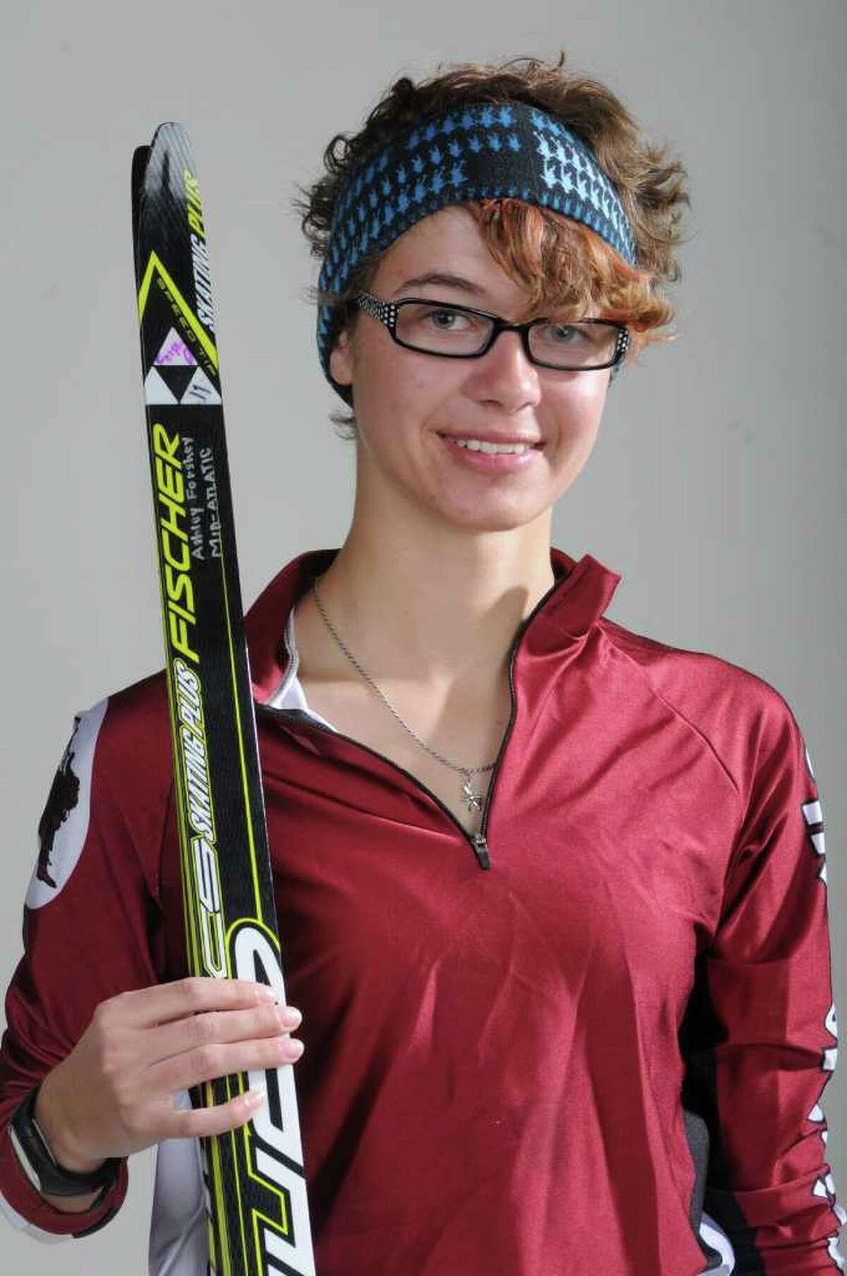 Cross Country skier all-star Ashley Forshey, 18, of Scotia on March 15, 2012 in Colonie, N.Y. (Lori Van Buren / Times Union)