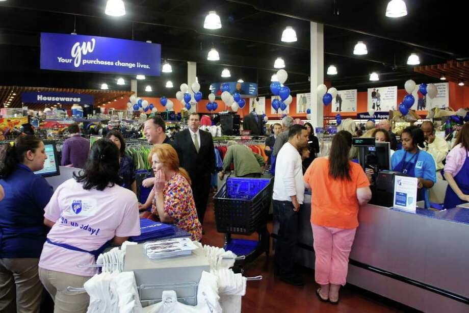 The new Goodwill store at 1700 Post Road East opened on Friday, March 23, 2012. Photo: Paul Schott / Westport News