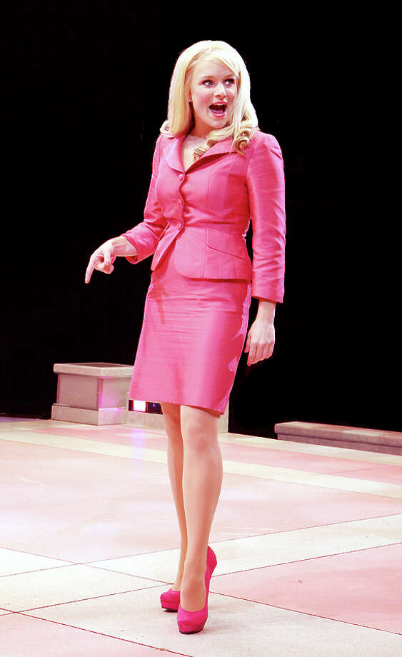 "Having a blonde moment: Kelly D. Felthous stars as Elle Woods in the Westchester Broadway Theatre production of ""Legally Blonde The Musical."" Photo: Contributed Photo"