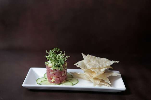 Ahi tuna tartar tower at Underdog Wine Bar in Livermore, California on March 15, 2012. Photo: Pete Kiehart, The Chronicle