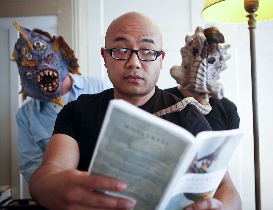 "Lysley Tenorio, author of, ""Monstress,"" is seen on Wednesday, March 21, 2012 in San Francisco, Calif., in his San Francisco home. Photo: Russell Yip, The Chronicle"