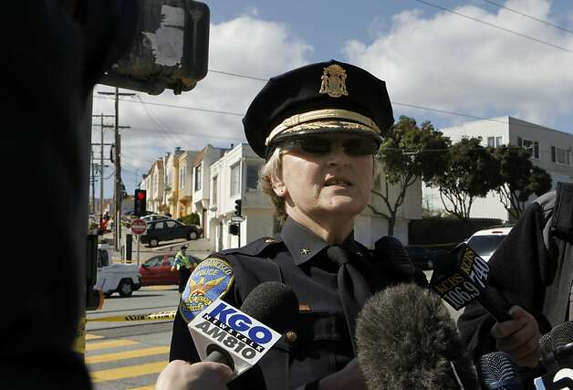 San Francisco Police commander Lyn Tomioka speaks to the media, on the scene at 16 Howth where five people were found dead inside the home, on Friday March 23, 2012, in San Francisco, Ca. Photo: Michael Macor, The Chronicle