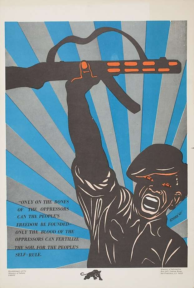 Emory Douglas, Untitled (On the Bones of the Oppressors), 1969. Offset lithograph, 20 x 13.5 in. Collection of the Oakland Museum of California, All Of Us Or None Archive. Fractional and promised gift of The Rossman Family. Photo: Whiting, OMCA