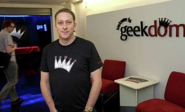 Nick Longo is director of the high-tech collaborative workspace that is Geekdom, at The Weston Center in San Antonio, Wednesday, March 21, 2012. Photo: J. Michael Short , FOR THE EXPRESS-NEWS / THE SAN ANTONIO EXPRESS-NEWS