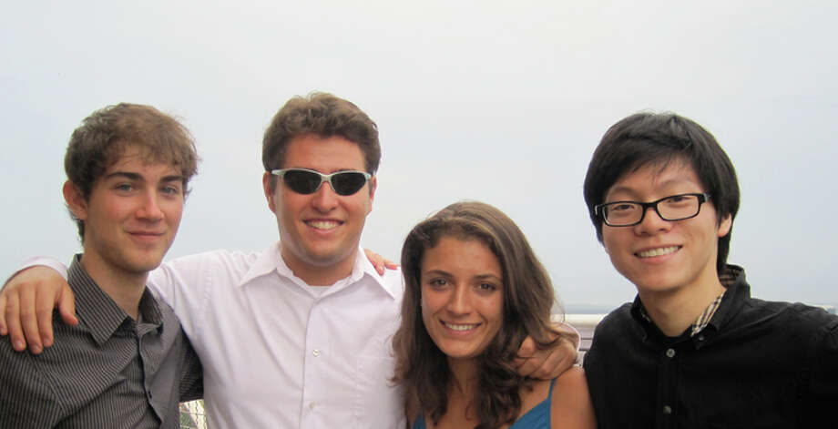 The Dover String Quartet (Camden Shaw, from left, Joel Link, Milena Pajaro-van de Stadt and Bryan Lee) have known each other since they were teenagers studying music in Philadelphia. Photo: Dominique Van De Stadt