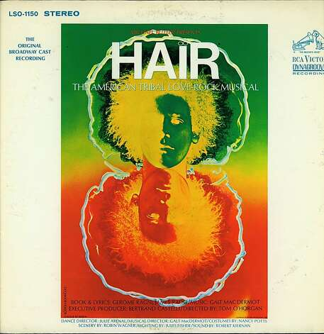 "Album cover from ""Hair' for 1968 exhibit Photo: Swhiting, Handout"