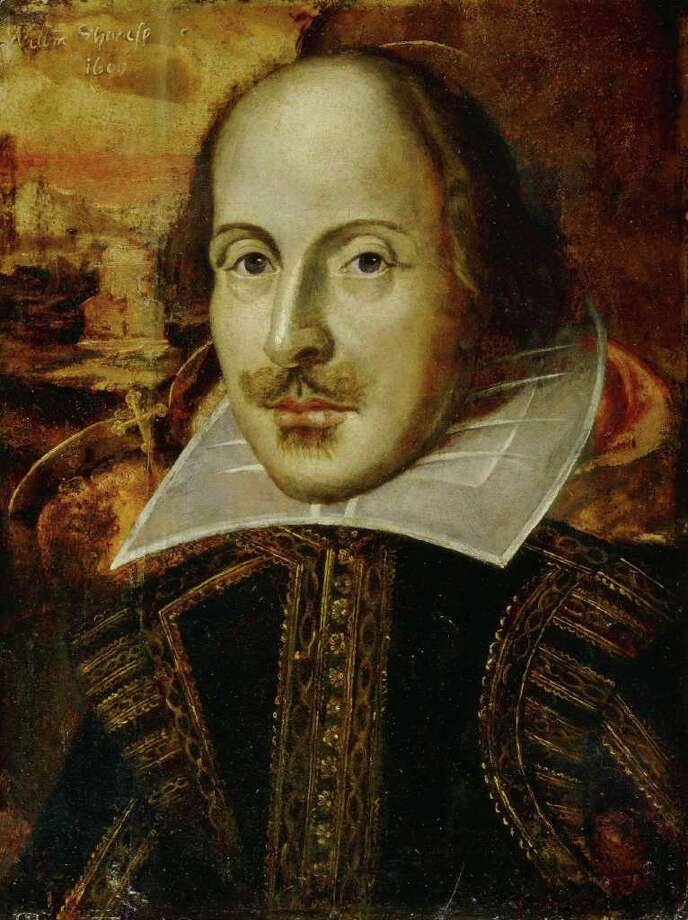 This picture released by Britain's National Portrait Gallery shows The Flower Portrait of William Shakespeare. Experts at Britain's National Portrait Gallery said Thursday, April 21, 2005,  they have concluded that one of the most well-known portraits of William Shakespeare is a fraud, painted more than 200 years after he died. Many experts had long suspected that the work, known as the Flower portrait, was done much later than 1609, which is the date painted on it. (AP Photo/ National Portrait Gallery/HO)   ** EDITORAL USE ONLY NO SALES **  HOUCHRON CAPTION (04/24/2005) SECNEWS:  TWO CENTURIES OFF: Experts at Britain's National Portrait Gallery have concluded that one of the most well-known portraits of William Shakespeare is a fraud, painted more than 200 years after he died. Photo: NATIONAL PORTRAIT GALLERY / NATIONAL PORTRAIT GALLERY