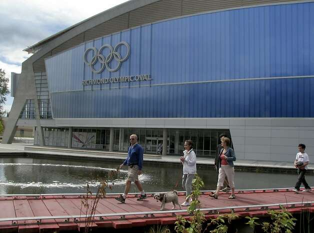 Visitors tour the grounds of the Richmond Olympic Oval in Richmond, B.C., on Friday, Aug. 21, 2009. The oval will host the speed skating events at the 2010 Vancouver Olympic Games. Photo: Paul Chinn, The Chronicle