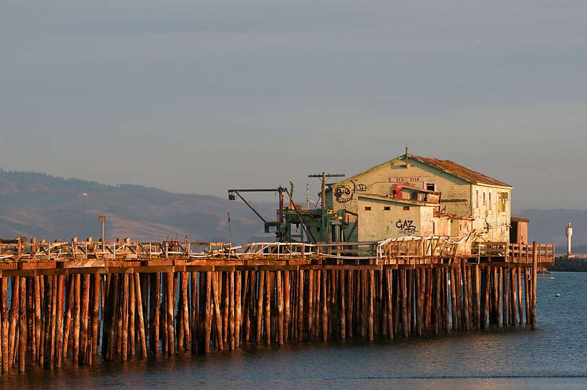 The old pier at the Princeton Harbor, Princeton-by-the-Sea.