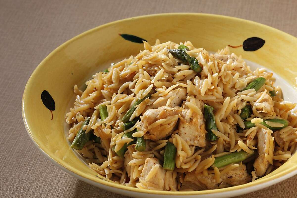 Orzo Chicken Asparagus as seen in San Francisco on February 22, 2011. Food styled by Sunny Liu.
