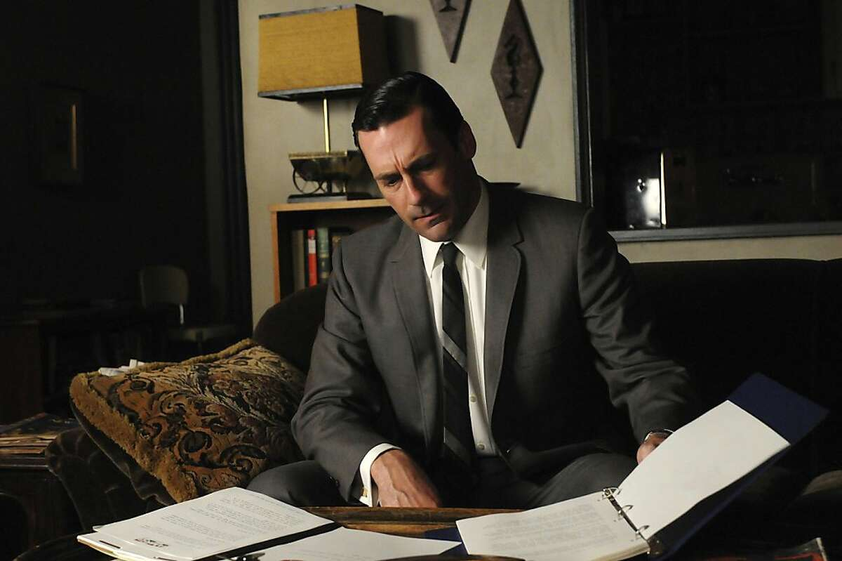 """In this image released by AMC, Jon Hamm portrays Don Draper in a scene from """"Mad Men."""" (AP Photo/AMC)"""