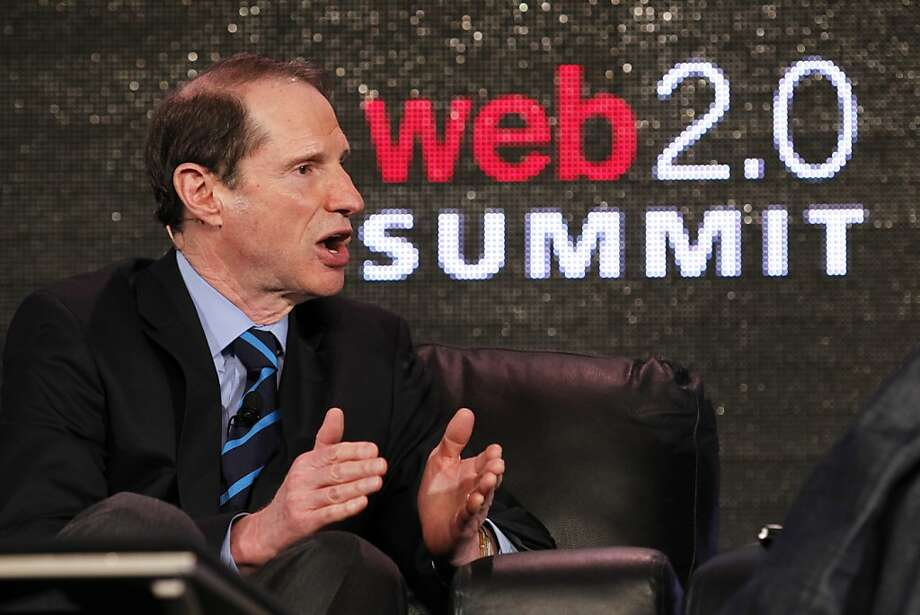 U.S. Senator Ron Wyden answers questions at the Web 2.0 Summit at the Palace Hotel  on Monday, October 17, 2011 in San Francisco, Calif. Photo: Beck Diefenbach, Special To The Chronicle