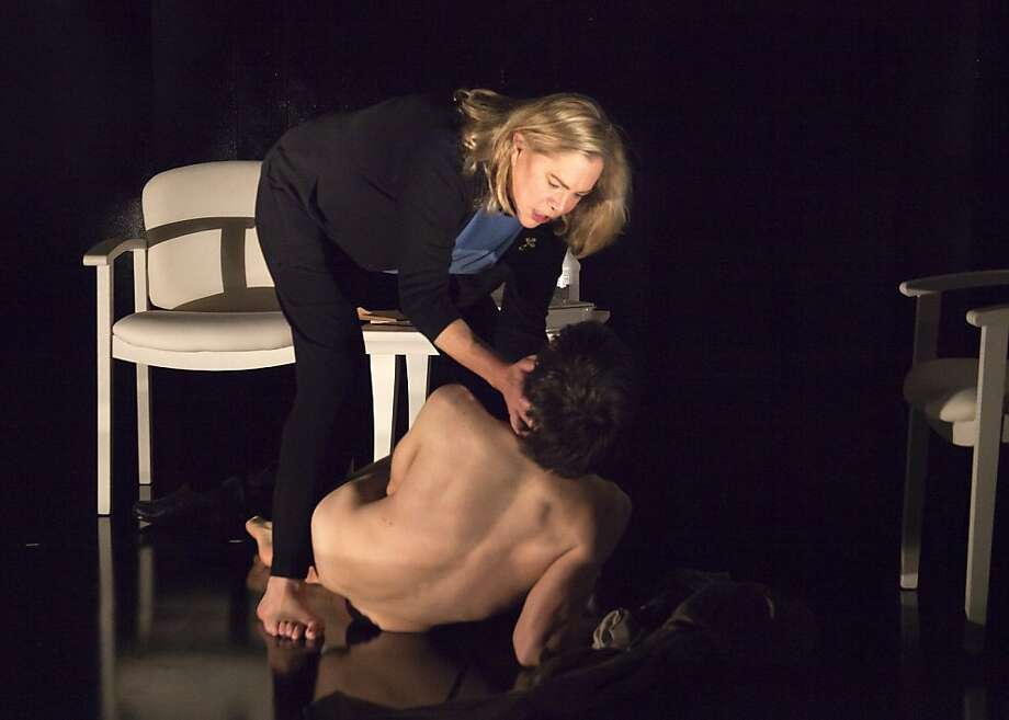 """Kathleen Turner plays Sister Jamison Connelly and Evan Jonigkeit as Cody Randall appear in, """"High."""" Photo: Shane Reid"""