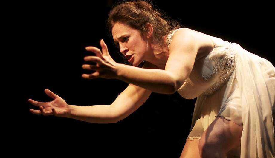 Soprano Laura Bohn in the world premiere of Erling Wold's chamber opera, Certitude & Joy, Photo: Lynne Rutter