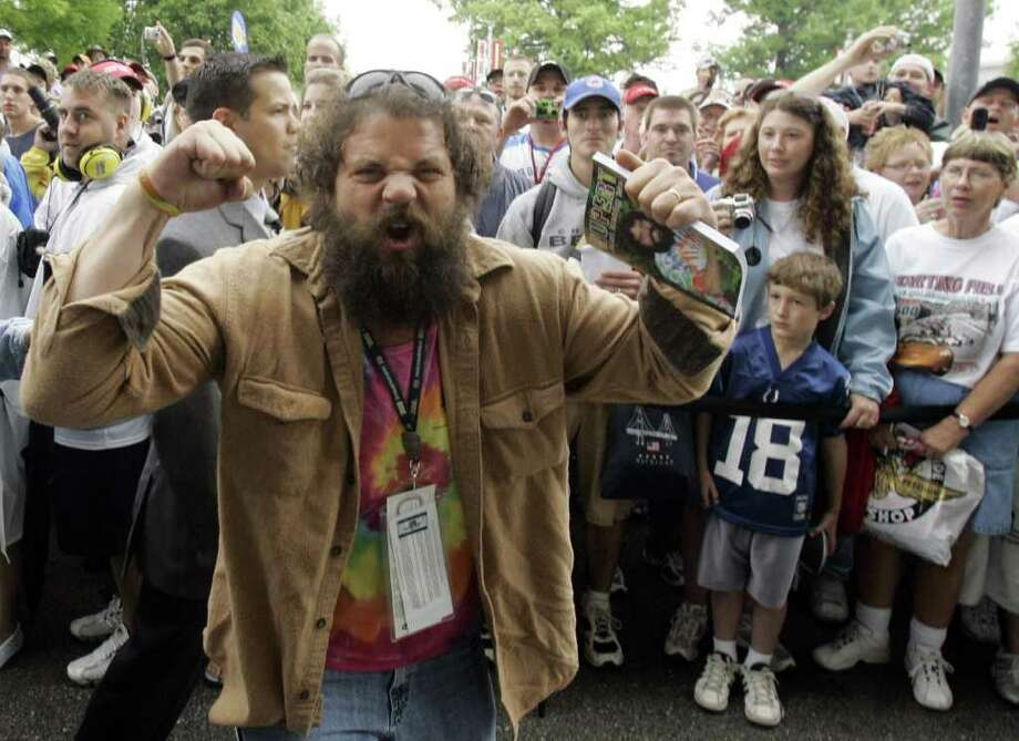 "FILE - In this May 27, 2007, file photo, May Rupert Boneham, from the television show ""Survivor,"" pumps up the  crowd before a race at Indianapolis Motor Speedway in Indianapolis.  Libertarian Party members are set to nominate the former television reality series star as their candidate for Indiana governor during its state convention on Saturday, March 24, 2012, in Indianapolis..   (AP Photo/Rob Carr, File) Photo: Rob Carr / AP2007"