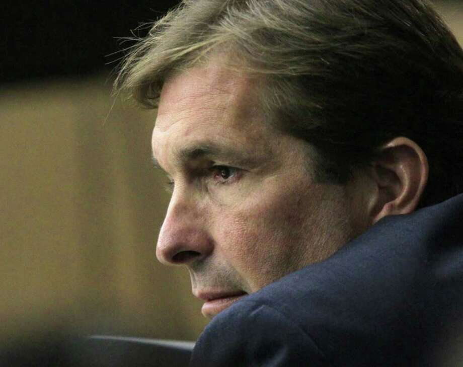 John Goodman listens to testimony during his DUI Manslaughter trial  on Wednesday, March, 14, 2012, in West Palm Beach, Fla.  Goodman is accused of driving drunk and leaving the scene of the February 2010 crash that killed 23-year-old Scott Wilson. (AP Photo/The Palm Beach Post, Lannis Waters, Pool) Photo: Lannis Waters / Palm Beach Post