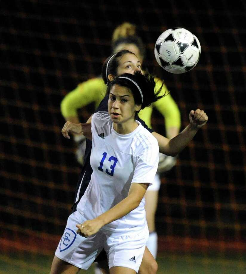 Hailey Ardoin of Clemens High SChool controls the ball against Smithson Valley during girls soccer action at Clemens High School on Friday, March 23, 2012. Billy Calzada / San Antonio Express-News Photo: Billy Calzada, Express-News / San Antonio Express-News