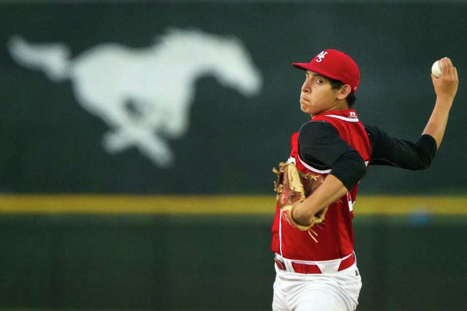 North Shore's Ricardo Salinas pitched a complete game Friday, shutting out Channelview while striking out six in a 3-0 win. Photo: Smiley N. Pool / © 2012  Houston Chronicle