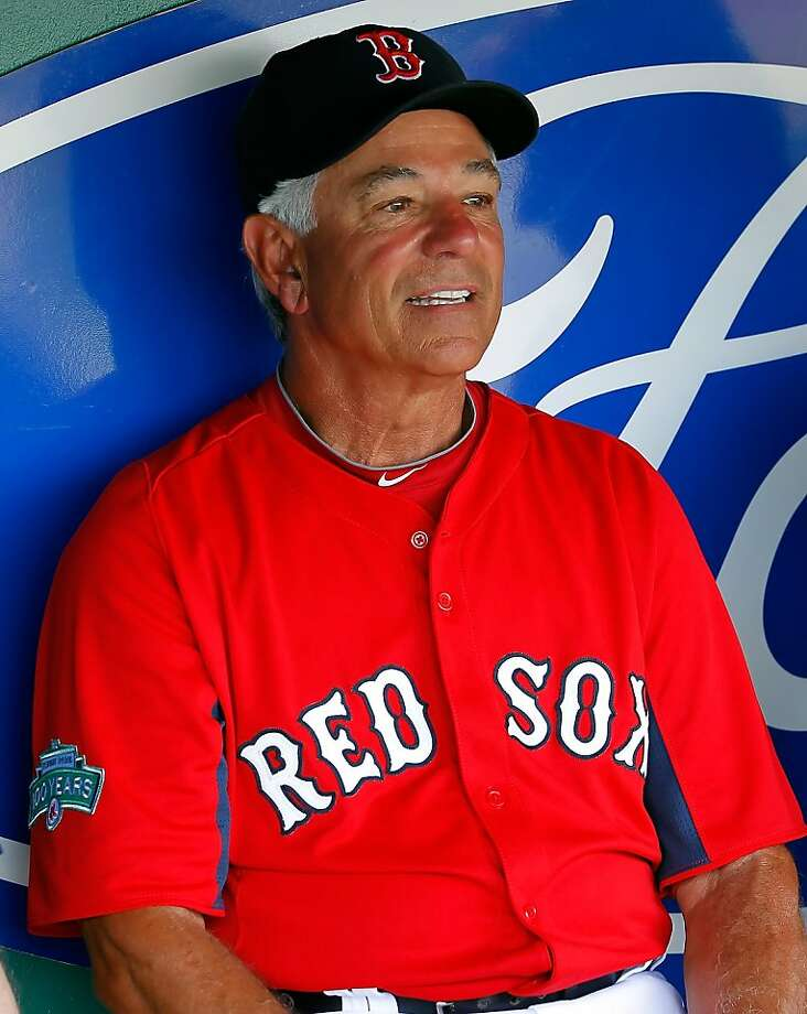 FORT MYERS, FL - MARCH 22:  Manager Bobby Valentine #25 of the Boston Red Sox talks with the media just before the start of the Grapefruit League Spring Training Game against the New York Yankees at JetBlue Park on March 22, 2012 in Fort Myers, Florida.  (Photo by J. Meric/Getty Images) Photo: J. Meric, Getty Images