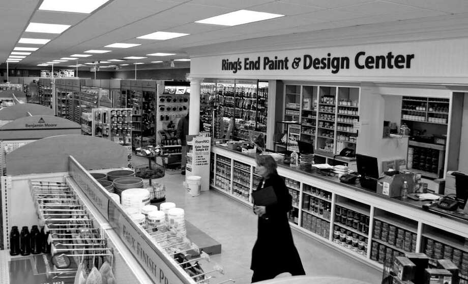 A customer shops at the Ring's End paint and design center on at 149 Westport Ave. in Norwalk in this file photo. The company has been undergoing a rapid expansion over the last couple of years as the recession made commercial rents more affordable. Photo: Contributed Photo, ST / Stamford Advocate Contributed