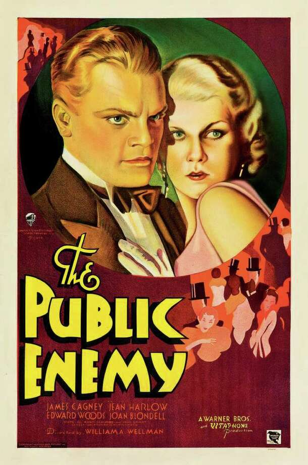 "This February 2012 photo provided by Heritage Auctions in Dallas shows a movie poster for the 1931 film ""The Public Enemy"" featuring James Cagney. This and other rare classic movie theater posters found in a northeastern Pennsylvania attic are scheduled to go to auction March 23. (AP Photo/Heritage Auctions)"