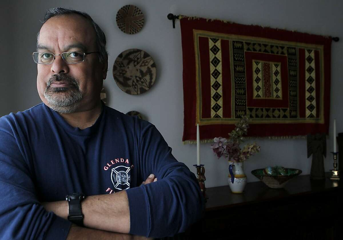 Frank Castro is seen at his home in the Rockridge district of Oakland, Calif. on Saturday, March 24, 2012. Castro opposes Mayor Jean Quan's 100 Block crime prevention plan, believing it is taking resources away from other neighborhoods in the city.