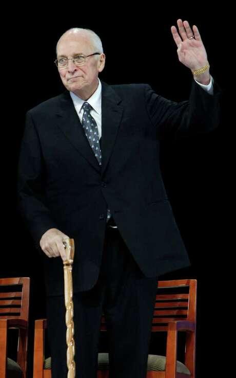 Dick Cheney, despite heart problems, attends the groundbreaking ceremony for the President George W. Bush Presidential Center in Dallas in 2010. Photo: LM Otero / AP