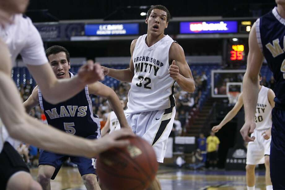 Junior Aaron Gordon looks on at the ball. Aaron Gordon led Archbishop Mitty in scoring for the game. Archbishop Mitty took on La Costa Canyon for the Boys Division II CIF basketball Championship on Friday, March 23, 2012, in Sacramento Ca. Photo: Sean Culligan, The Chronicle
