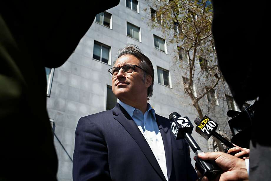 Suspended Sheriff Ross Mirkarimi leaves his domestic violence class orientation at the Hall of Justice in San Francisco, Calif., March 22, 2012. Photo: Jason Henry, Special To The Chronicle